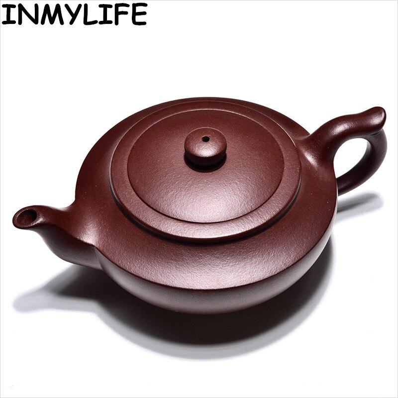 INMYLIFE Purple Clay Tea Pots Kung Fu Teapot Handmade Teapot KungFu Tea Set Tea Lovers Gift Travel Teapot Pure Tea Teapot 210ML