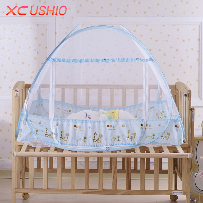 1pc Portable Folding Baby Kids Infant Bed Mosquito Net Mongolian Yurt Zipper Anti Mosquito Net Tent Single Door Mosquito Bed