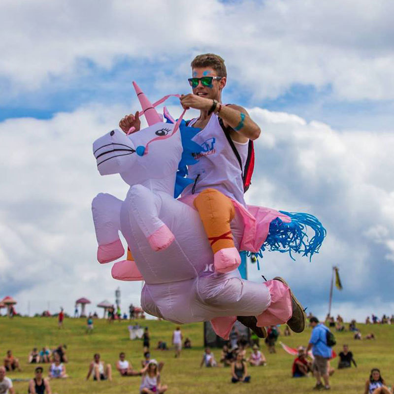 Inflatable Horse And Rider Costumes 1.5 2m Halloween Unicorn Inflatable Costume Party Cosplay Funny Unicorn Costume