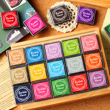 20 Colors Vintage Stamp Craft Colored Inkpad Seal Decoration Children DIY Scrapbooking Room Decor