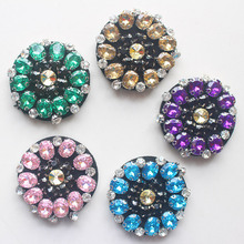 10pieces/lot heavy rhinestone beaded patches applique collar sewing accessories fashion flowers clothing decoration patch