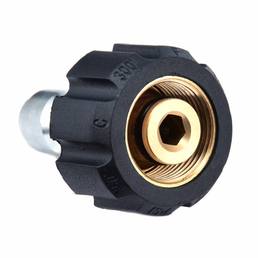 1X Brass Plastic Washer Quick Release Female Connector For Pressure Washer 14mm M22 X 3/8 Inch Male Plug Adapter Connect