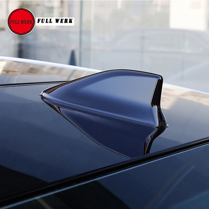 Advanced Style, Pearl White Fortuner Shark Fin Antenna Auto Parts for Toyota Rav4 Car Radio FM//AM Aerials Sienna Highlander Vehicle Electronics Accessories Venza and Auris
