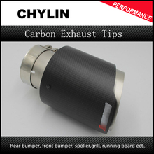 1Pcs 63m-101mm New Universal Carbon and Steel Car Rear Round Exhaust Pipe Tail Muffler Tip Hot Sale Car Accessories