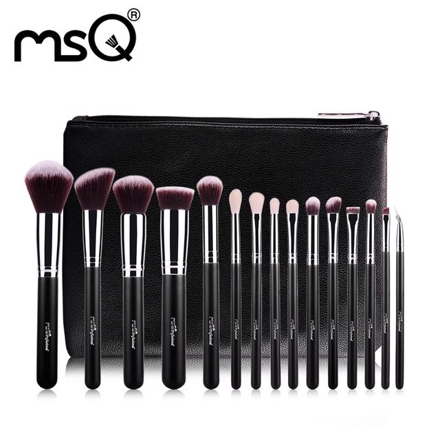 Personalização personalizado MSQ 15 pcs Pincéis de Maquiagem Conjunto Make Up Pincéis Aceitar Logotipo Personalizado Cosméticos Ferramenta de Beleza