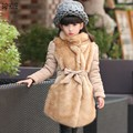 New Autumn Winter Long Fur Kids Coats Girls Winter Fashion  Girls Winter Jacket  Manteau Hiver Fille Girls Winter Jacket  B541