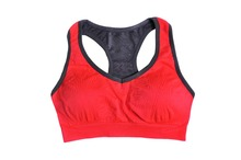 Crop Top Push Up Bras Absorb Sweat Drying Professional Sports Bra Vest Running Wireless Underwear For Women Wire Free Polyester
