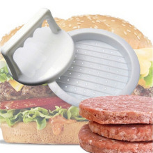 1 Juego de prensa de hamburguesa de forma redonda de plástico de calidad alimentaria hamburguesa carne Parrilla de ternera hamburguesa prensa molde para hacer hamburguesas herramienta de cocina para moldear