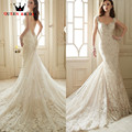 Sexy Mermaid Tulle Lace Beading Sequins Wedding Dress Custom Made 2017 QUEEN BRIDAL Marriage Women Gown Backless GZ22