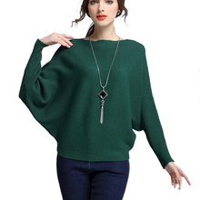 2017 New Autumn Winter Women High waist Sweater Coat Women Fashion Batwing Sleeve Knitted Sweaters And Pullovers Jumper Green 37