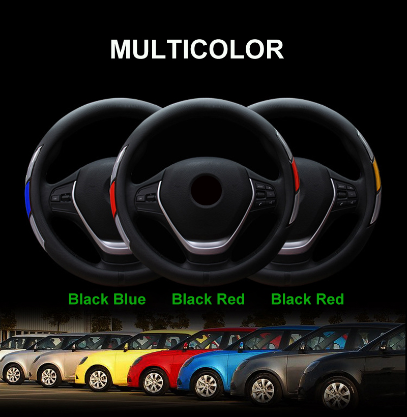 Reflective Movement Diamond Steering Wheel Cover 3 Colors Anti-slip For 38CM Car Styling Steering-wheel Car-covers Free Shipping 3