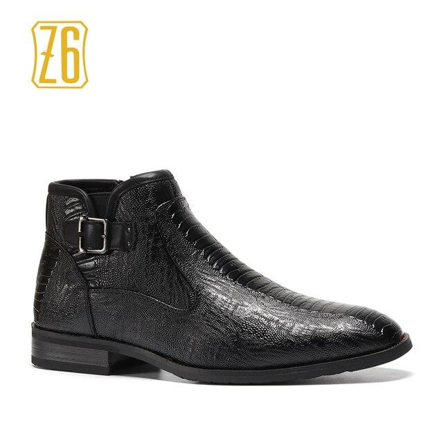 39-48 marka mężczyźni buty Z6 Najwyższej jakości przystojny wygodne Retro skórzane wiosna buty # R5282