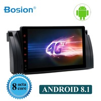 Bosion 9 Android 8.1 Octa Core GPS Naviagton DAB+ DVR Canbus 4G Wifi TPMS 1 Din CAR DVD Player For BMW 5 Series E39 E53 X5 M5