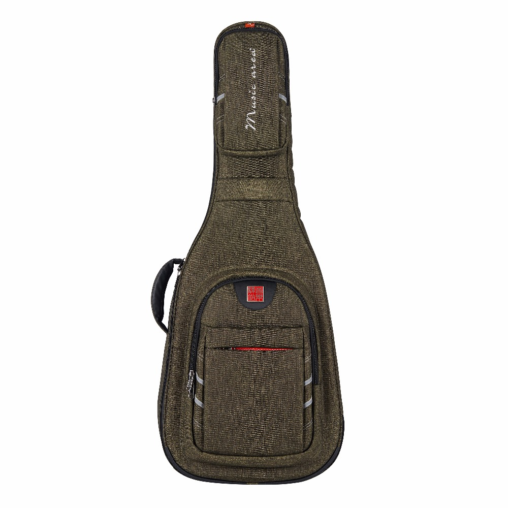 Music Area Classical Guitar Soft Case Dark Green Guitar Gig Bag Waterproof  Premium Quality  30mm Cushion Protection WIND30-AC 12mm waterproof soprano concert ukulele bag case backpack 23 24 26 inch ukelele beige mini guitar accessories gig pu leather