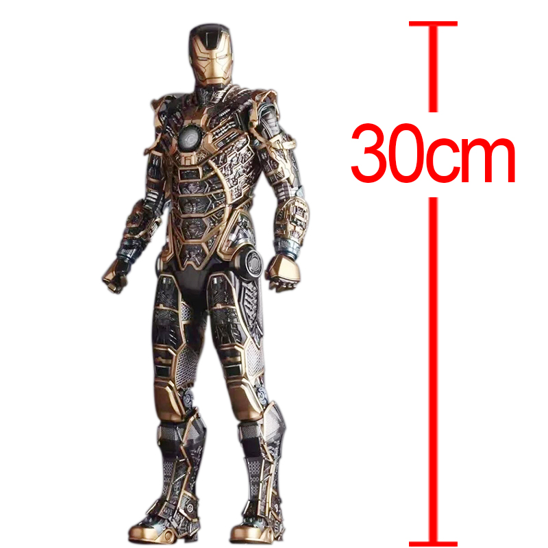 C&F Iron Man Anime Action Figure Toys Superhero Anthony Edward Stark Colorful PVC Model Collectible Figures Toys For Gifts superhero ironman mark xlv limited edition iron man action figure pvc doll anime collectible model toy 25cm