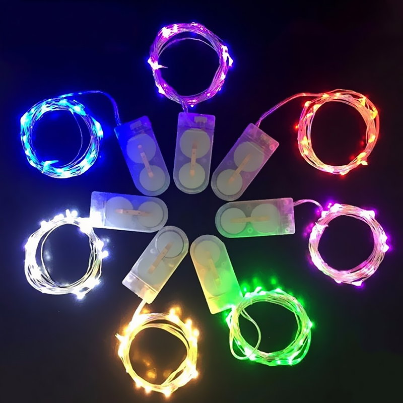Fashion LED 9Colors Hot Lights String 1PC New Festival Beautiful Home Decoration Wedding Fairy Lights 2M 20 Leds Copper Wire