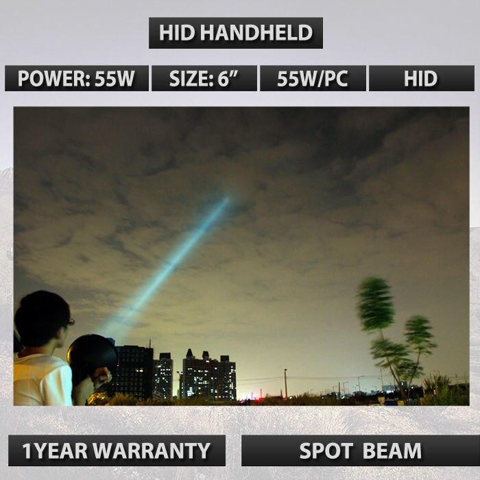 55 Вт HID Портативные ксенон Прожектор ручной поиск используется для охоты рыбная ловля Пешие прогулки Кемпинг Лампа 12V спрятал 4300lm ручной