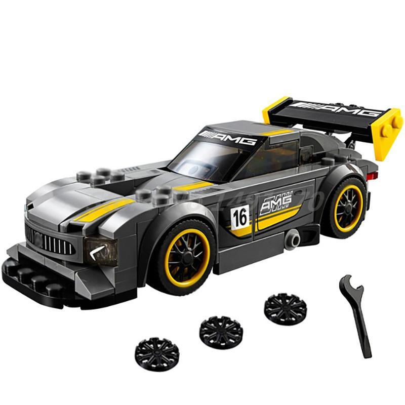 Lepin 28003 211Pcs Super Racer Series The AMG GT3 Racing Car Set Building Blocks Bricks Toys For Children Christmas Gift 75877