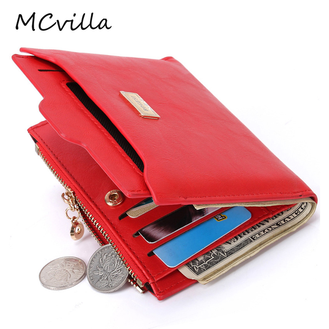 New Fashion Women Purse Wallet Female Zipper Leather Coin Card Holder High Quality Photo Holders Purse Wallets Brand Mcvilla dollar price women cute cat small wallet zipper wallet brand designed pu leather women coin purse female wallet card holder