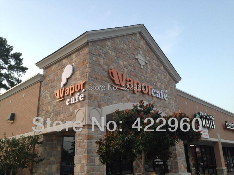 Factoy Outlet Outdoor  Coffee Shop Letter Signs For American Client