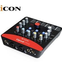 ICON upod pro Professionelle externe soundkarte 2 mic In/1 gitarre In, 2 Out USB Recording Interface 48 V phantom power ausgestattet