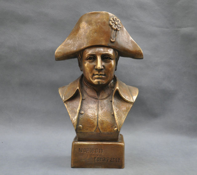 12 France Empereur Napoléon Bonaparte Buste Bronze Statue Dans