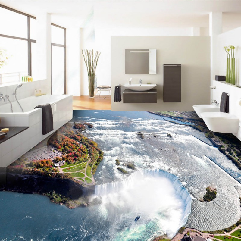 Free Shipping Cool waterfalls with 3D flooring self ...