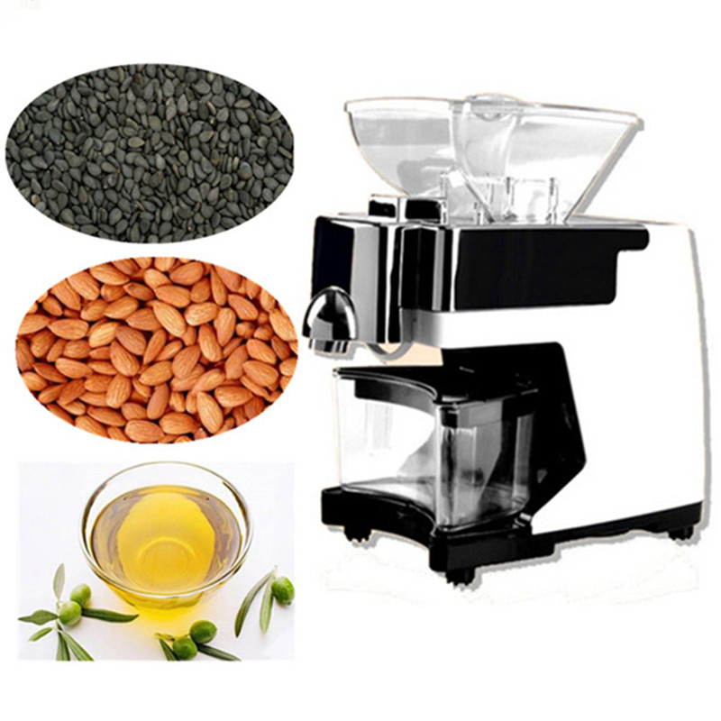 Small grape seeds oil squeezer almond hazelnut nut oil press machine automatic nut seeds oil expeller cold hot press machine oil extractor dispenser 350w canola oil press machine