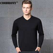 Free Shipping Autumn Winter Cashmere Sweater Men Brand Clothing Knitted Wool Sweater Solid Color V-Neck Pullover Shirt Men 66217