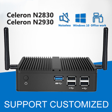 Intel Celeron N2830 Mini PC Windows 10 Linux Безвентиляторный Intel мини-компьютер HTPC Android Media Player офис HDMI Desktop