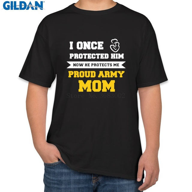 Us 25 0 Personalized Comical T Shirt For Mens Cotton Proud Army Mom Shirt Clothing Men Tshirt Letters Branded Hiphop In T Shirts From Men S Clothing