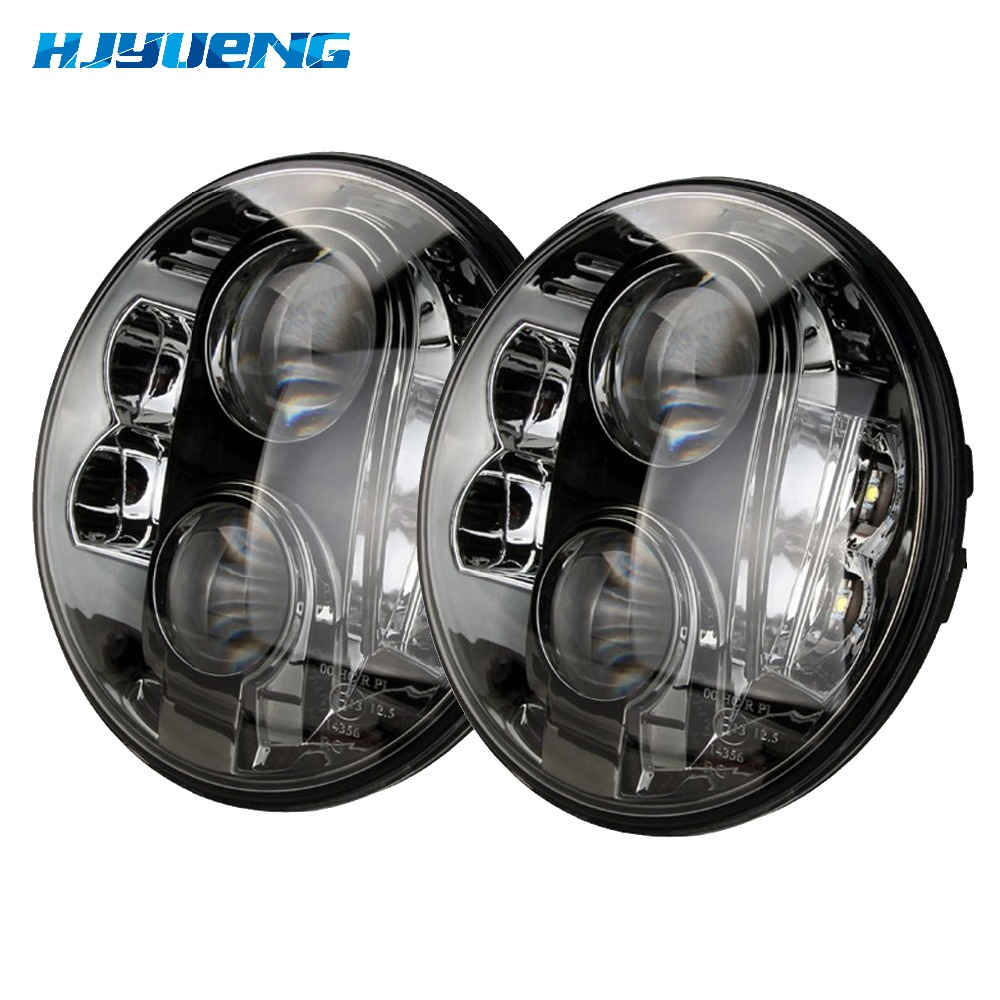 7inch Round Projector H4 LED Headlight with White DRL for Jeep JK LJ TJ Harley Touring Motorcycle Headlight 7inch for Jeep JK