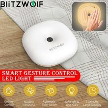 Blitzwolf BW LT18 sensor de controle de gestos, inteligente, 2800 3200k, led, luz noturna, rgb, regulável, cabeceira do ambiente, luminária, regulável, escurecimento sem tamanho