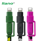 llano 2 in 1 USB Data Cable For iPhone 2.4A Fast Charger Cable Code for Samsung Xiaomi HTC LG Sony