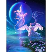 Abstract Diamond Painting Angel Girl Cartoon Embroidery Phoenix Landscape Full Square 5d Diy Rhinestone Home Decor Y90