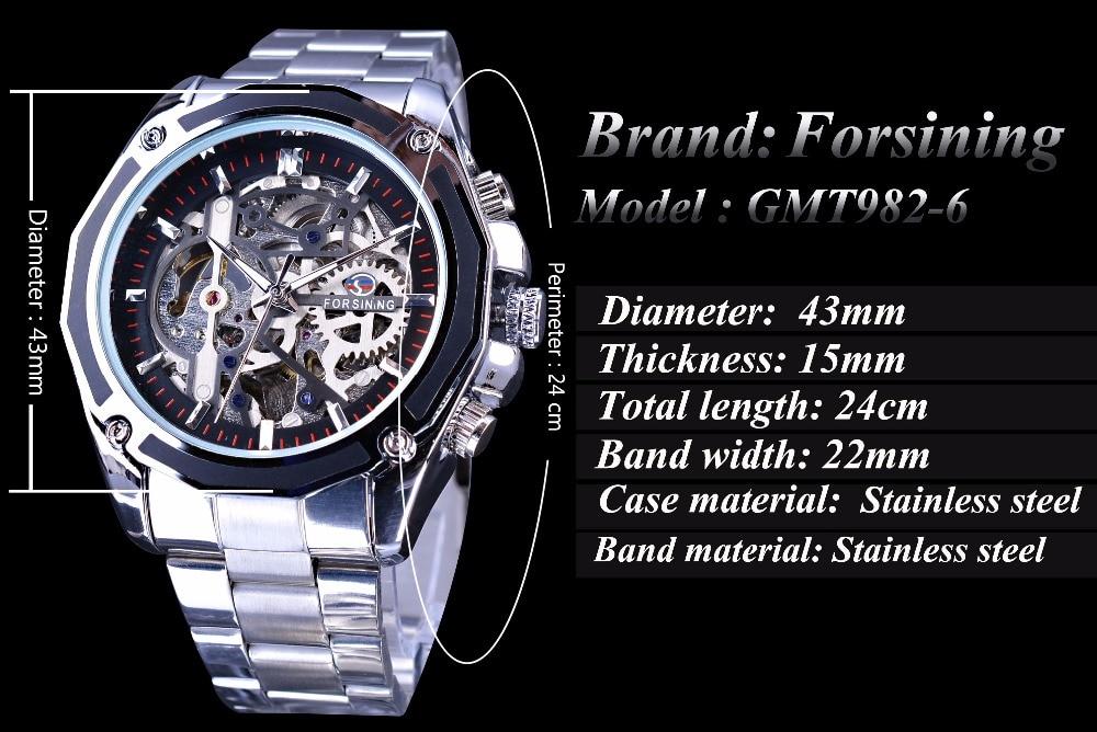 Forsining Μηχανική Steampunk Σχεδιασμός Μόδα - Ανδρικά ρολόγια - Φωτογραφία 3