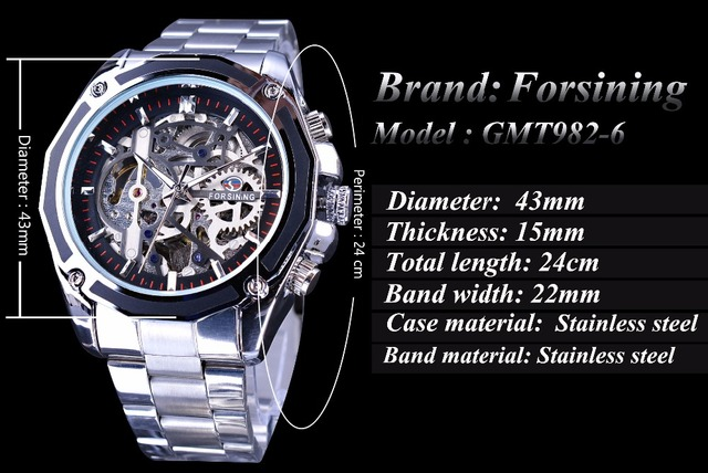 Forsining Mechanical Steampunk Design Fashion Business Dress Men Watch Top  Brand Luxury Stainless Steel Automatic Skeleton Watch. Previous  Next 8be00652f92