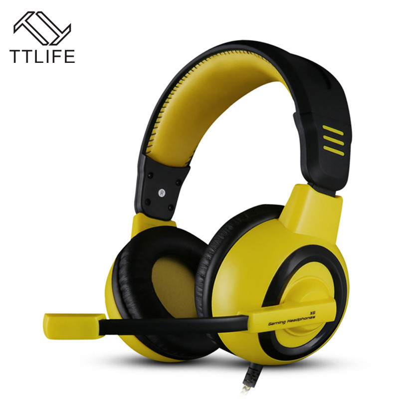 Fashion TTLIFE Brand Noise Cancelling Headband Earphones 7.1 Surround Sound Channel USB Gaming Headset Wired Headphones with Mic each g8200 gaming headphone 7 1 surround usb vibration game headset headband earphone with mic led light for fone pc gamer ps4
