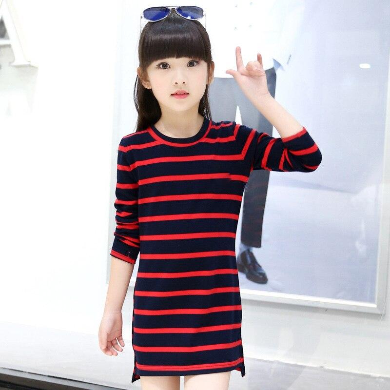 Κορίτσια   ρούχα Kids Girls Dress Cotton Striped Long Sleeve Girls Clothing  Autumn Casual Children Girls Dress 4 5 6 7 8 9 10 11 12 13 14 Years 067d7c91a