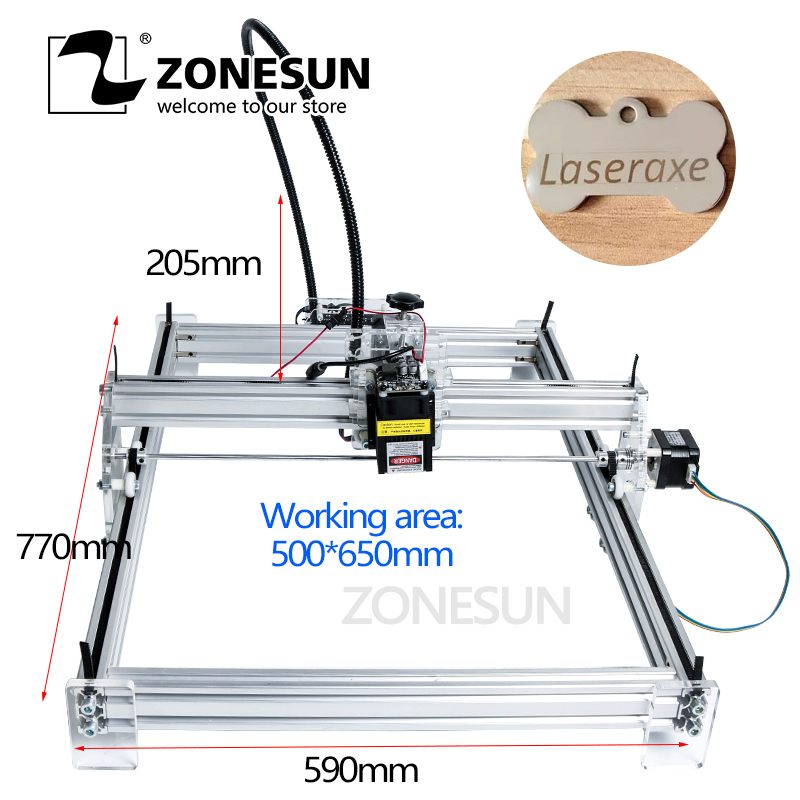 ZONESUN 5500MW AS-3 Big Work Area 65*50cm DIY Laser Machine Laser Engraving Machine CNC Laser Machine Advanced Toys Best Gift small bottle filling machine