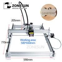 Zonesun 5500 mw as-3 grande área de trabalho 65*50cm diy máquina de gravação a laser cnc máquina a laser brinquedos avançados melhor presente