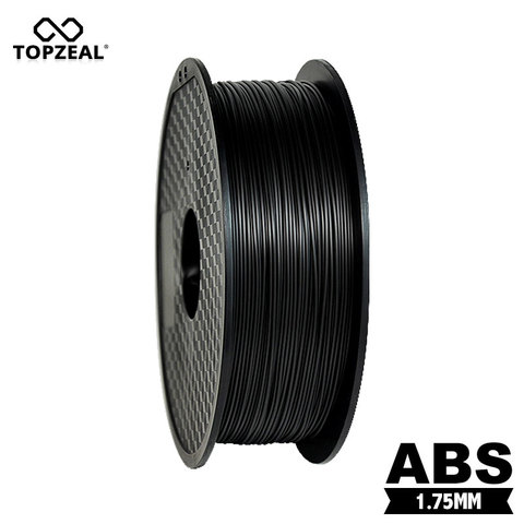 topzeal premio solida abs filamento impressora 3d 1 75 milimetros 1 kg consumiveis borracha material