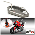 Titanium Motorcycle CNC Side Stand Enlarge Plate For Ducati Multistrada 1200 1200S MONSTER 795 796 821 1200 1200S