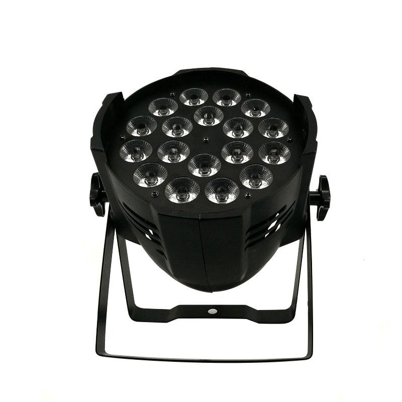En alliage d'aluminium LED Par 18x18 W RGBWA + UV 6in1 Éclairage de Scène LED Projecteur DJ Projecteur Lavage Éclairage Salon du mariage de Partie Lumières