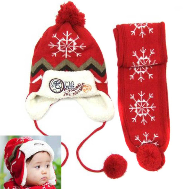 Baby Infant Boys Girls Snow Snowflake Christmas Pattern Knitted