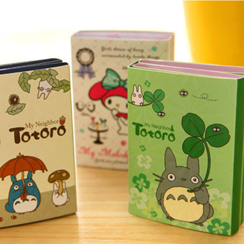 12 pcs/Lot My neighbor Totoro memo pad Cute melody sticky note Cartoon post folding book Stationery School supplies CM355