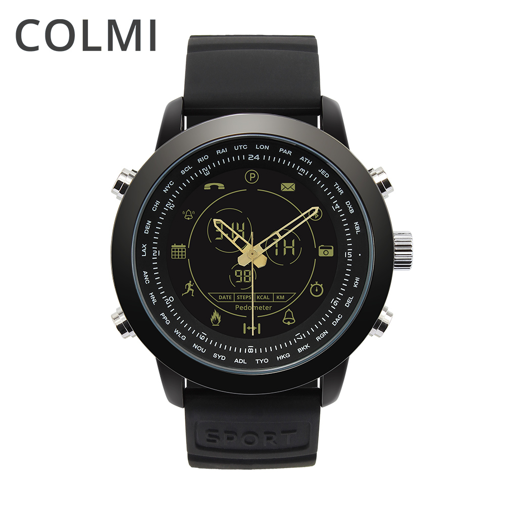 COLMI Casual Sport Smartwatch 5ATM Waterproof Pedometer Call & Message Remind Smart Watch For IOS And Android Clock