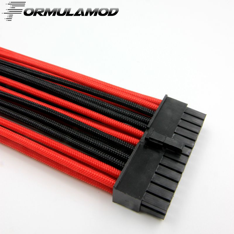 FormulaMod ATX 24Pin Motherboard Power Extension Cable 18AWG 24Pin Extension Cable for water cooling computer FMATX24P-C formulamod pci 6pin motherboard power extension cable 18awg 6pin extension cable for water cooling computer fmpci6p c