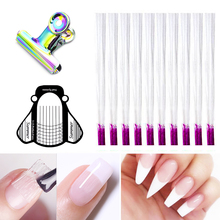 Fiberglass Nail Form For Nail Builder Extension Fiber Nails Acrylic Tips Manicure Salon Tool Clips Silk Wraps Extend gel NEG цены
