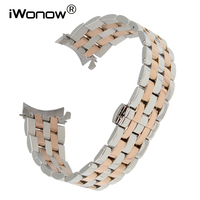 Curved End Stainless Steel Watchband 18mm 20mm 22mm 24mm for Invicta Bulova Ernest Borel Watch Band Butterfly Buckle Wrist Strap